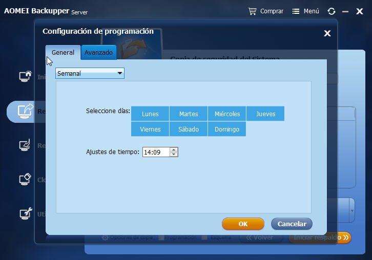 configuracion de programacion