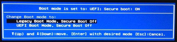 Legacy UEFI Boot