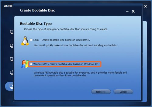 Create Bootable Disc