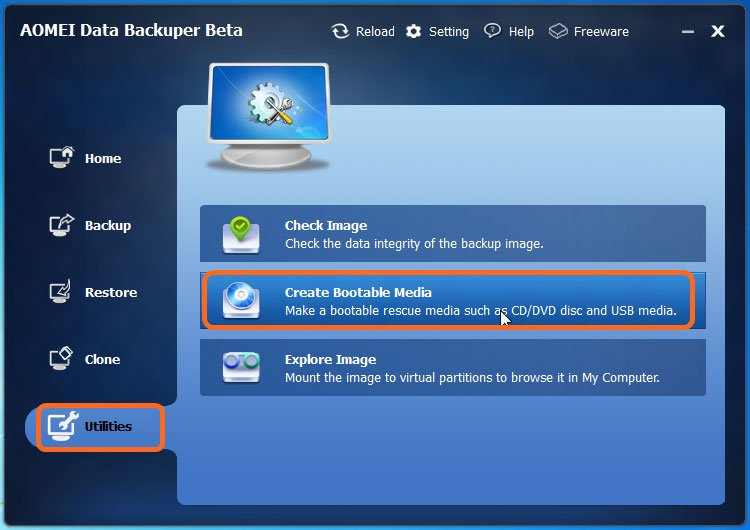 windows bootable image creator linux