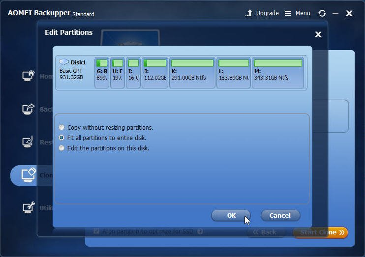 Resize Partitions