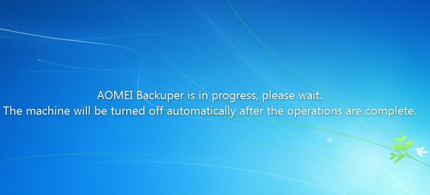 Computer Shutdown Backup Message
