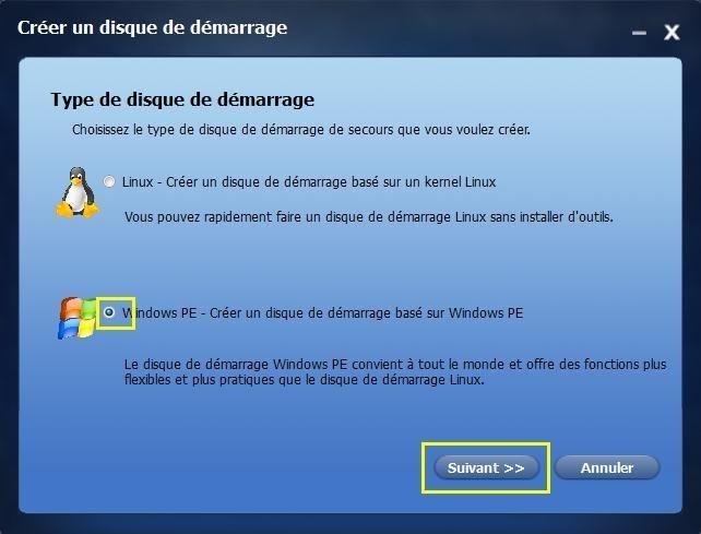 Cr er un support de d marrage pour sauver votre ordinateur for Ouvrir fenetre popup