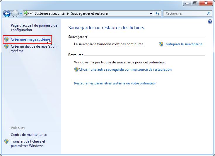 Restaurer Windows  Sur Disque Dur