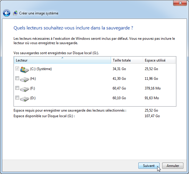 Select Source Drive
