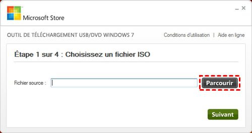 Choisir fichier ISO