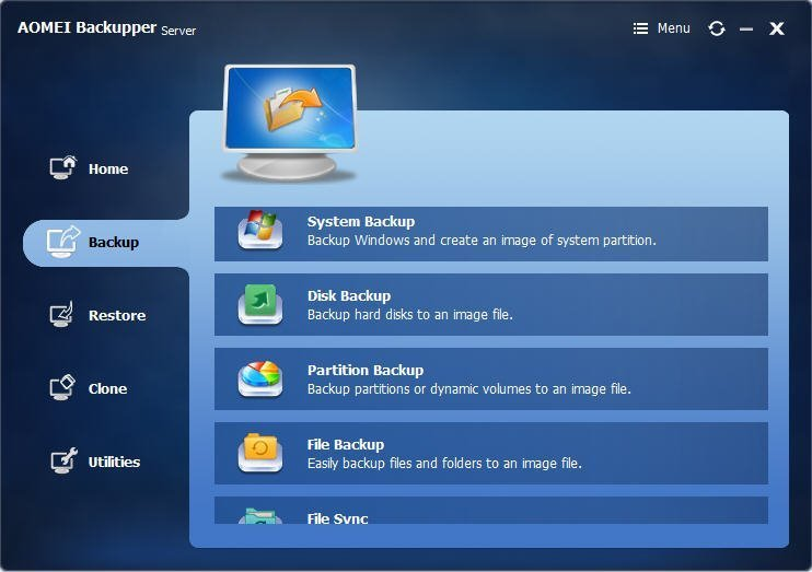 Windows 7 AOMEI Backupper Server 4.0.5 full
