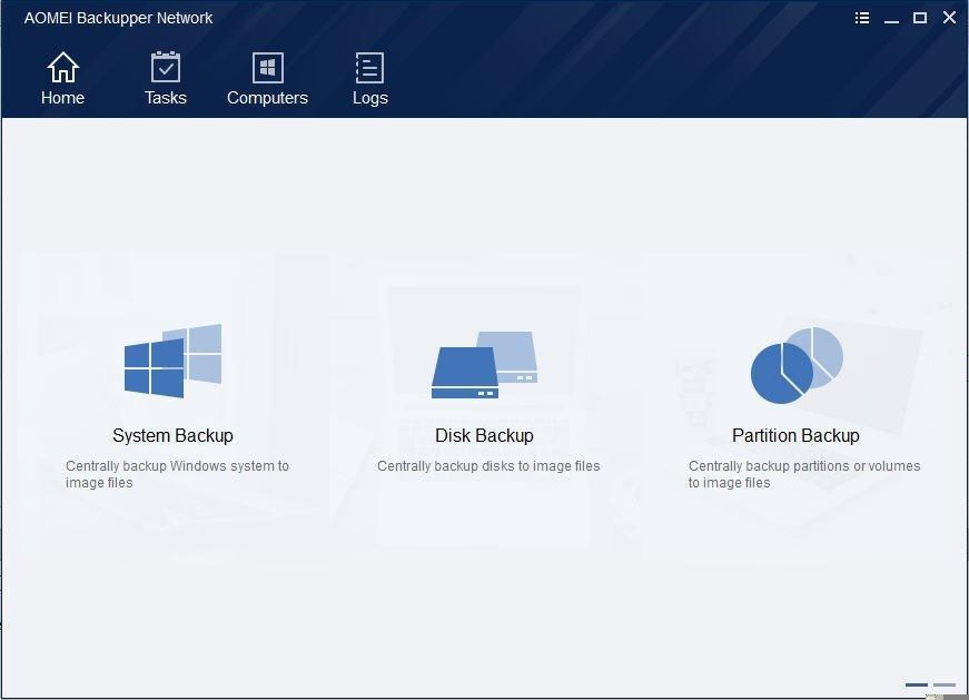 AOMEI Backupper Network full screenshot