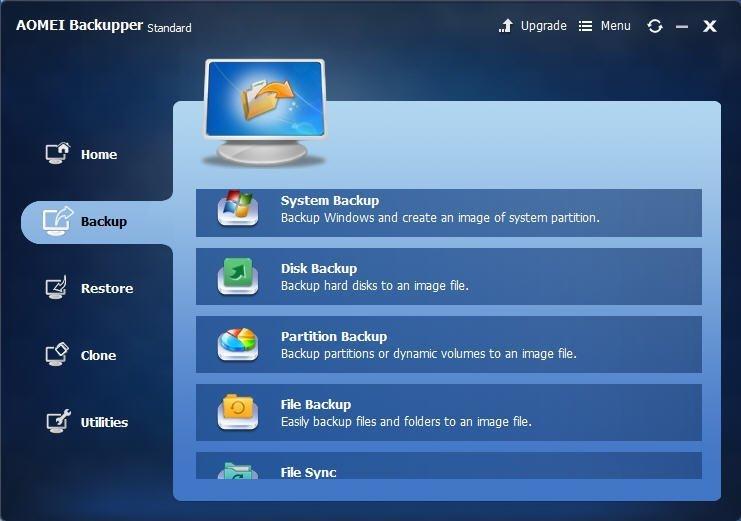 Windows 7 AOMEI Backupper Standard Edition 2.0 full