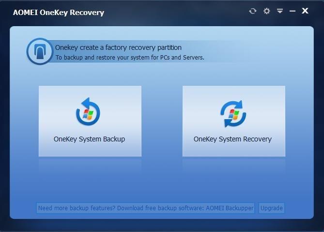 AOMEI OneKey Recovery Pro – 系统备份还原工具[Windows][→0]