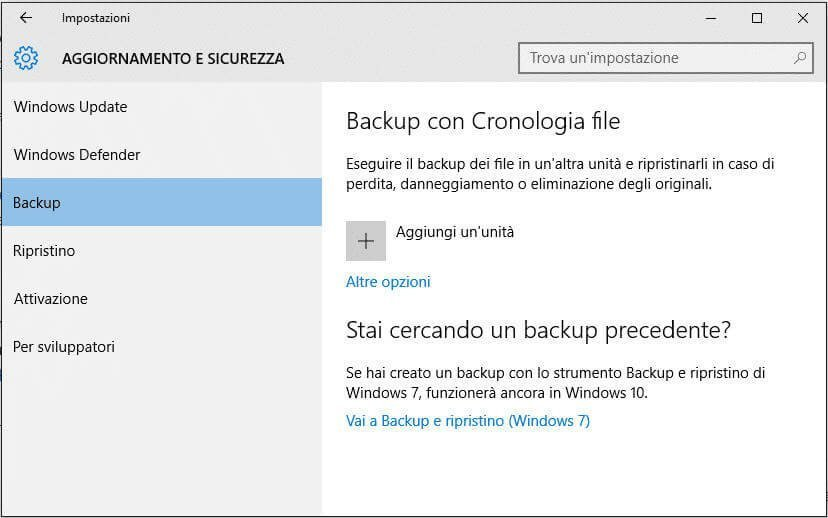 Windows 10 Backup Programma