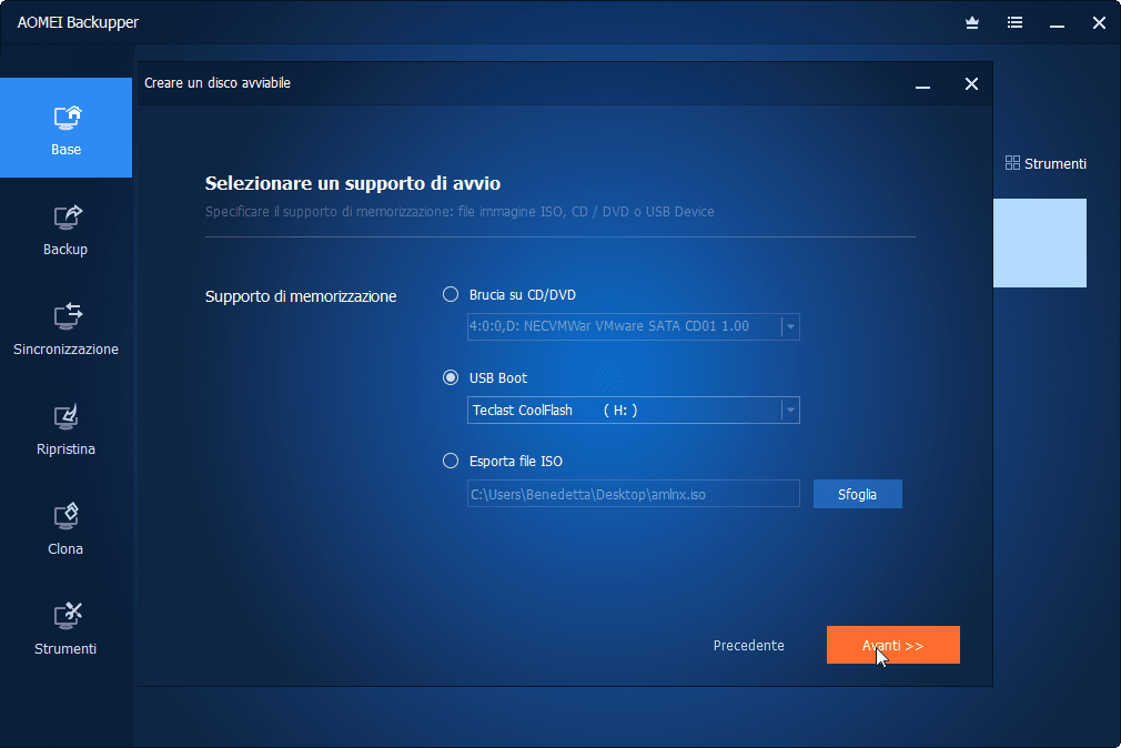 Select USB Device