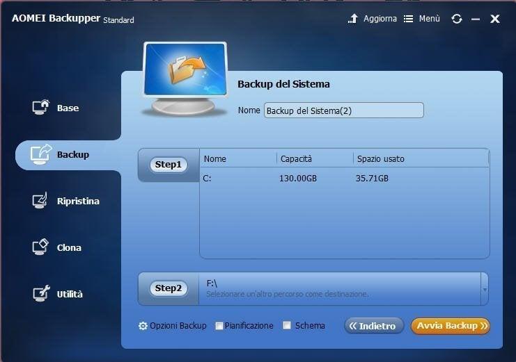 Start Windows 8 Backup