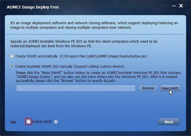 ブート可能なWinPE ISOファイルを作成