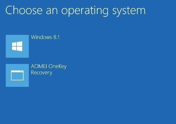 Windows起動メニュー