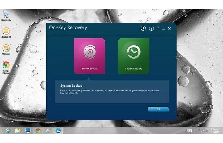 Lenovo OneKey Recoveryによる初期バックアップ