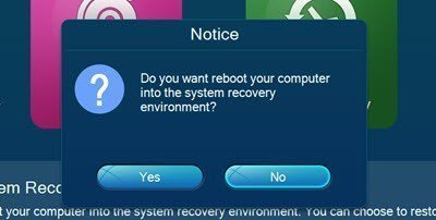 Lenovo OneKey Recovey 8.0 Reboot to Recovery Environment