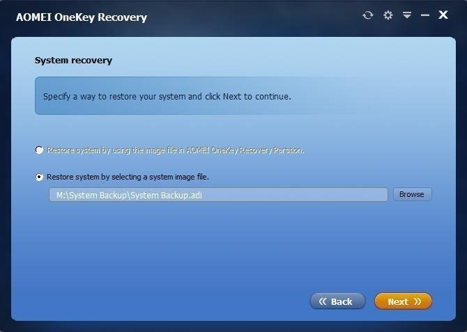 Restore System from Recovery Disk