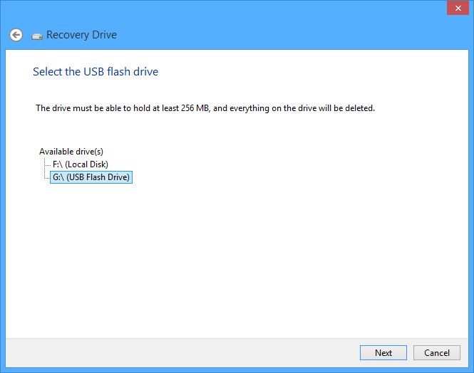 Acer Recovery Select USB Flash Drive
