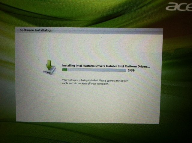 Acer Erecovery Management Stuck Solutions