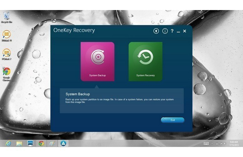 One-Key Recovery Software Lenovo OneKey Recovery in Windows 10