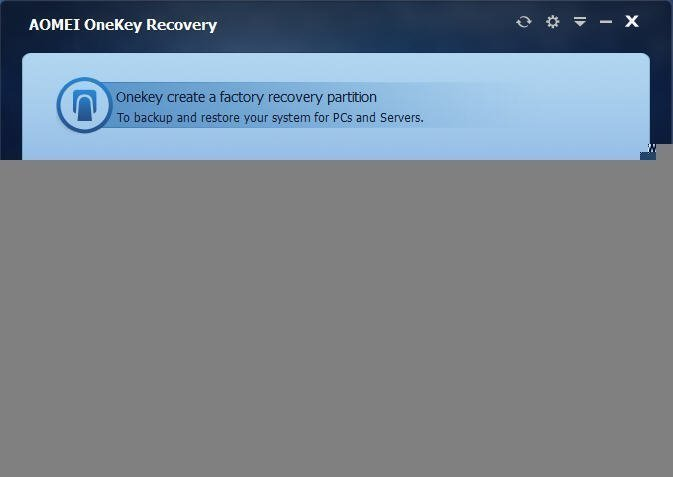 How To Create A Recovery Partition With AOMEI OneKey Recovery