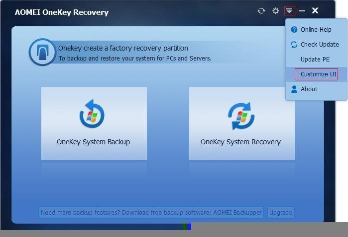 AOMEI OneKey Recovery 1.5 Review