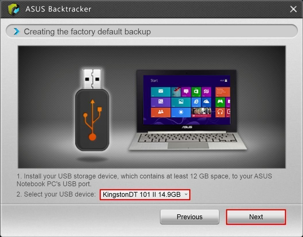 Asus Backtracker Select USB
