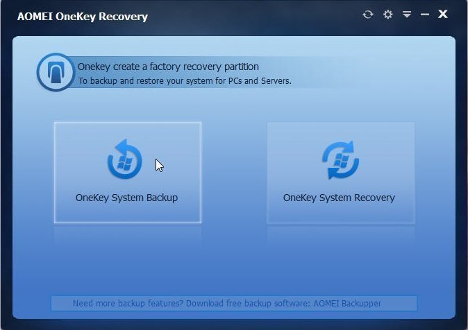 OneKey Recovery does not work