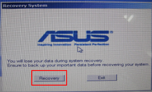 how do i factory reset my asus laptop windows 10 bios