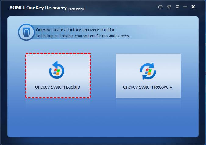 OneKey System Backup