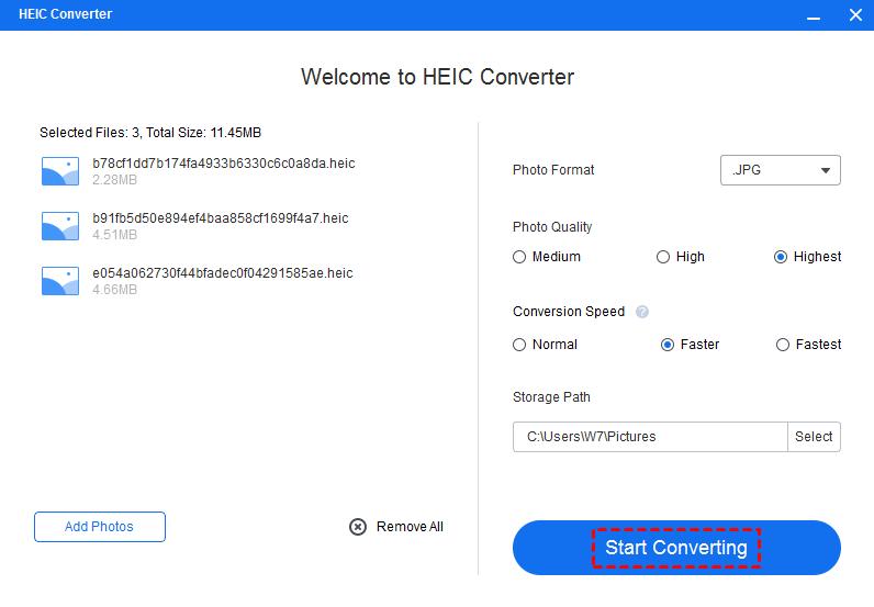 Start Converting