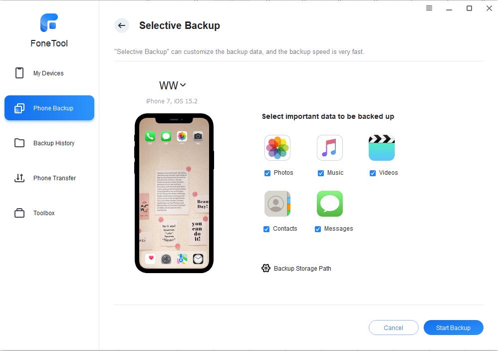 backup iPhone 7