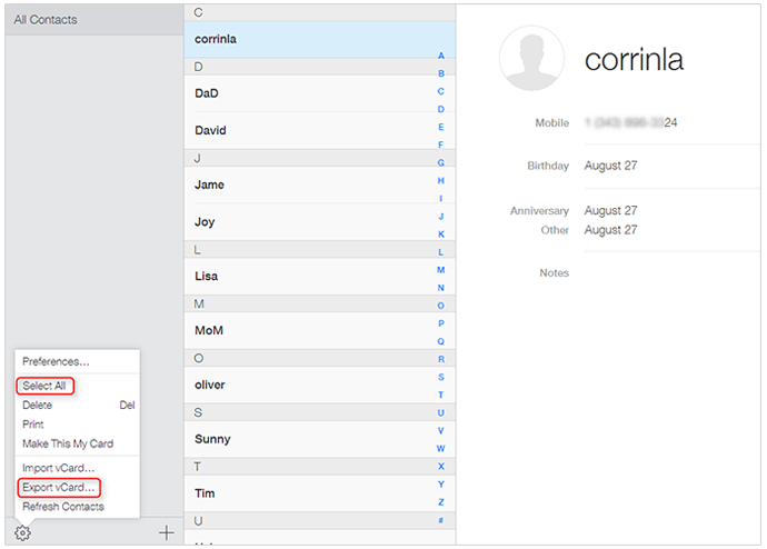 Export Iphone Contacts To Vcard