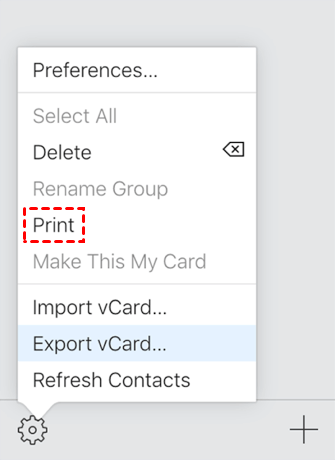 Print Contacts From Icloud