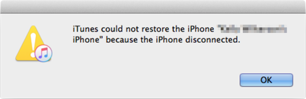 iTunes Disconnected