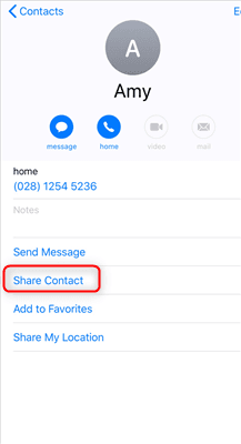 Share Contact