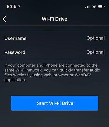 Start WiFi Drive