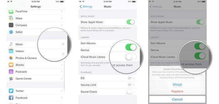 Enable Icloud Music Library Iphone