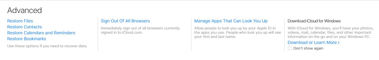 iCloud Advanced