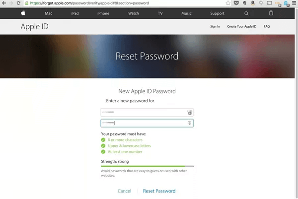 Reset Passcode