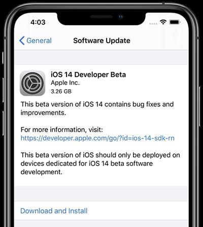 Download iOS 14 Developer Beta
