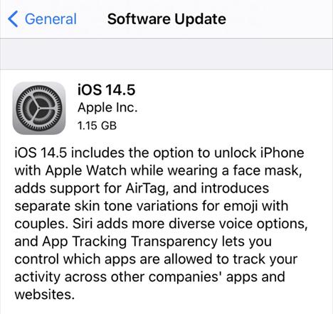 iOS 14.5 Update