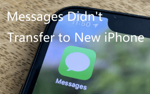 Messages Did Not Transfer to New iPhone