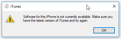 Software for This iPhone is Not Currently Available
