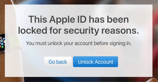 Apple Id Locked For Security Reason