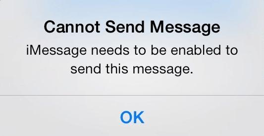 Cannot Send Message Error