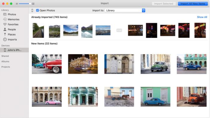Photos App Import Photos Mac