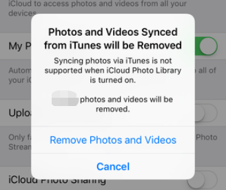 Photos Synced from iTunes Will Be Removed