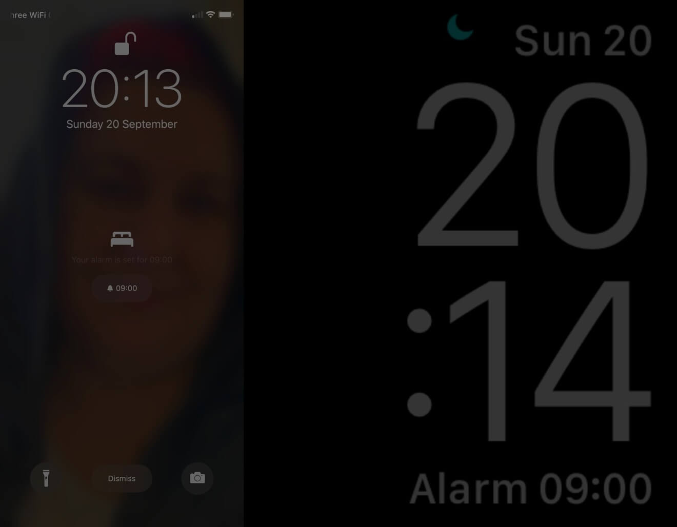 Sleep Mode Lock Screen